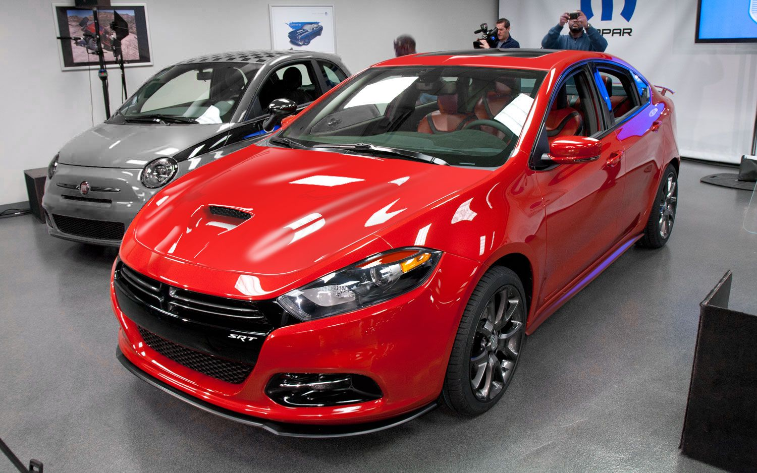 Dodge dart gts bodycolored hood and lip kit with elevated wing and headlight