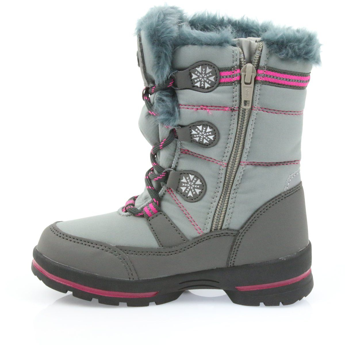 American Club American Winter Boots With 702sb Membrane Grey Pink Winter Boots Boots Childrens Boots