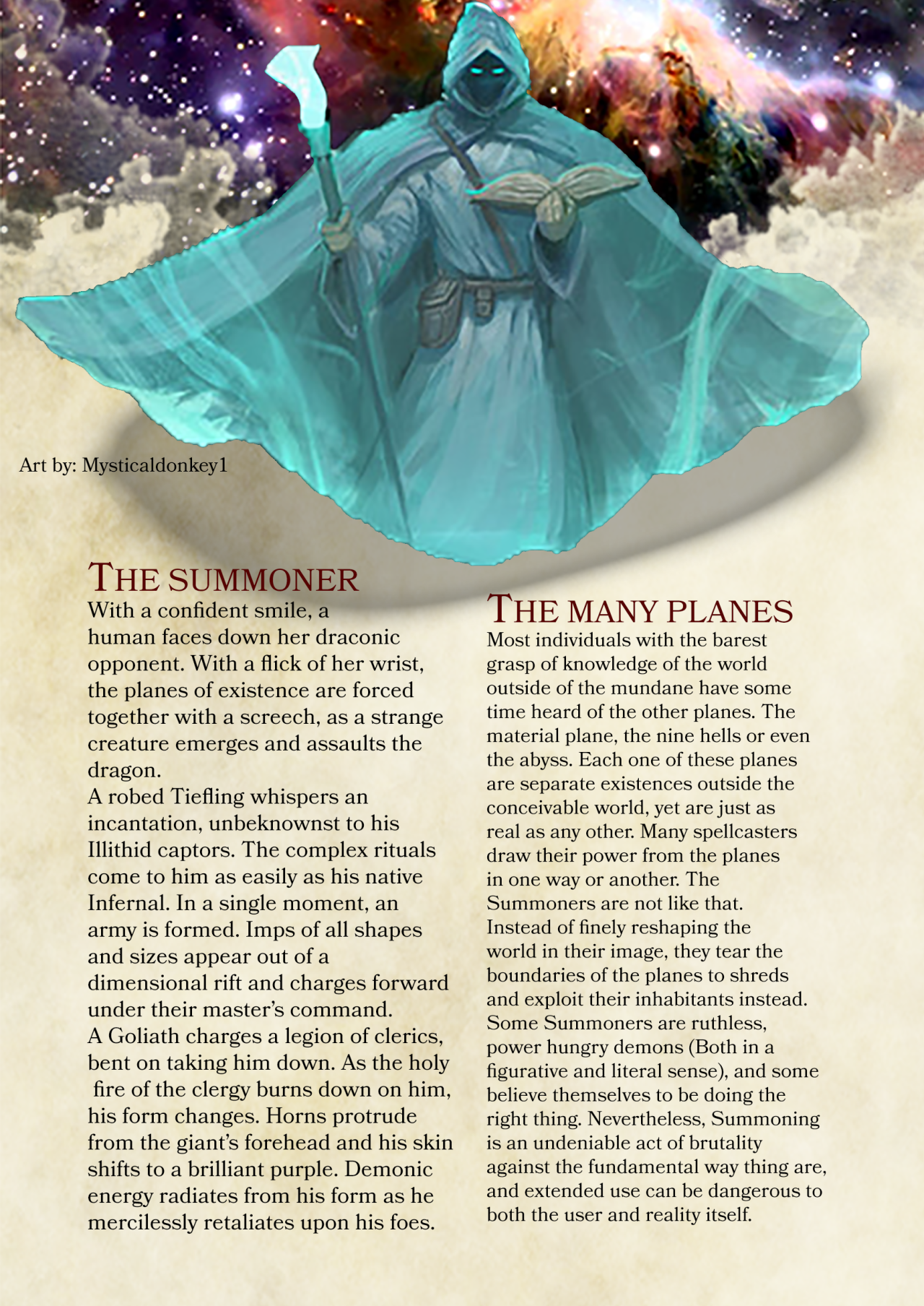 The Summoner Mk IV in 2019 | class dnd | Dnd classes, Dnd 5e