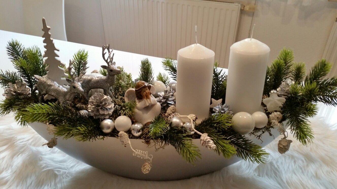 Na stôl #gebastelteweihnachtsdekoration - chillingtime #rustikaleweihnachtentischdeko
