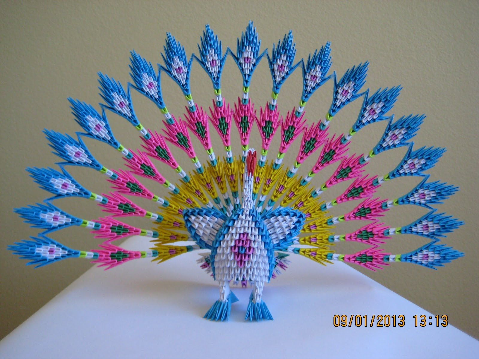 peacock bird diagram 2005 holden rodeo radio wiring pin by jana on origami pinterest 3d
