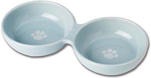 PetRageous Designs Wubby's Duo Diner Pet Bowls, Blue
