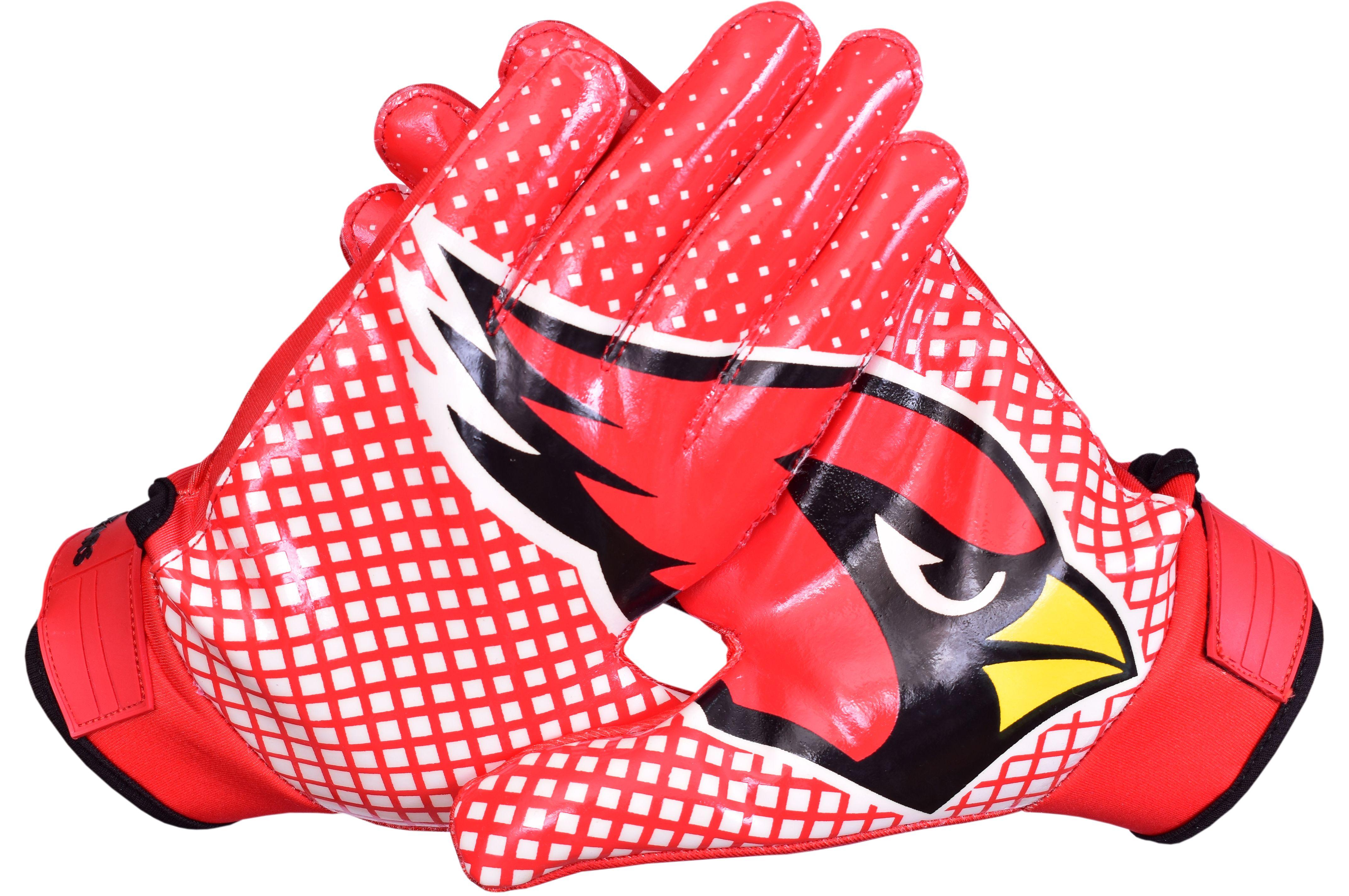 Arizona cardinals football gloves silicon grip receiver