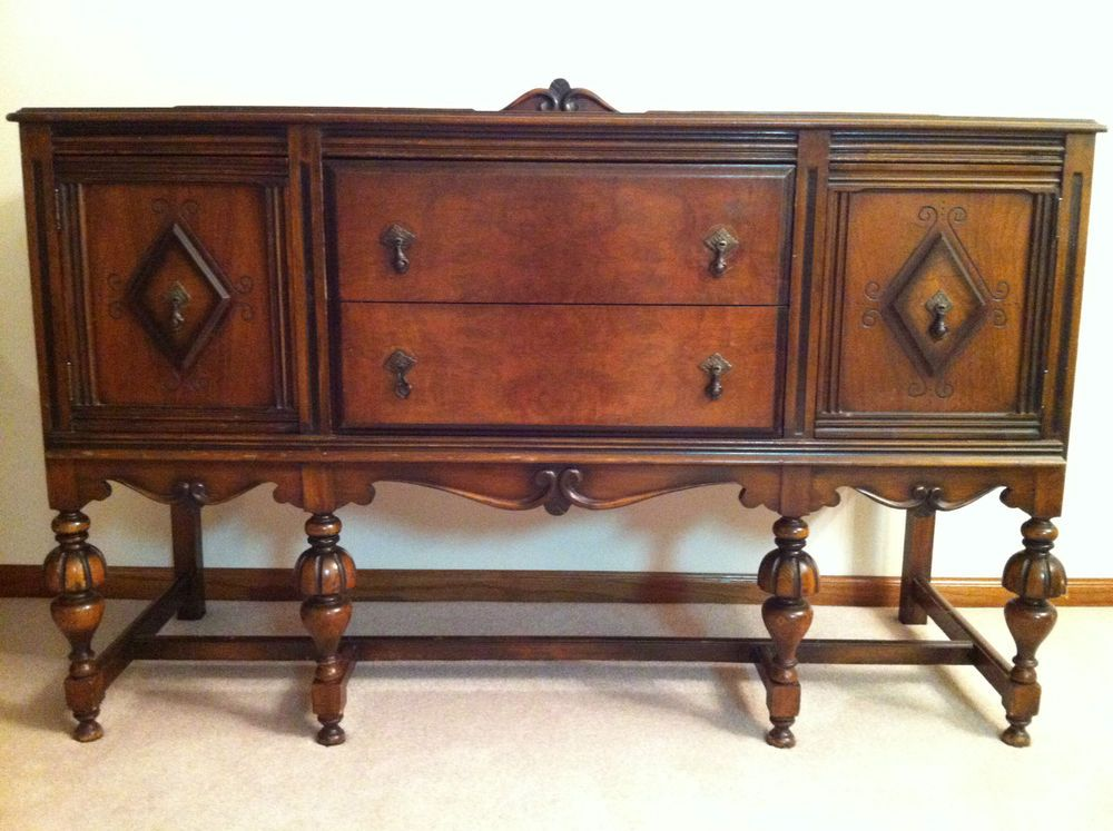 Buffet Sideboard Server Cupboard Cabinet Carved Antique