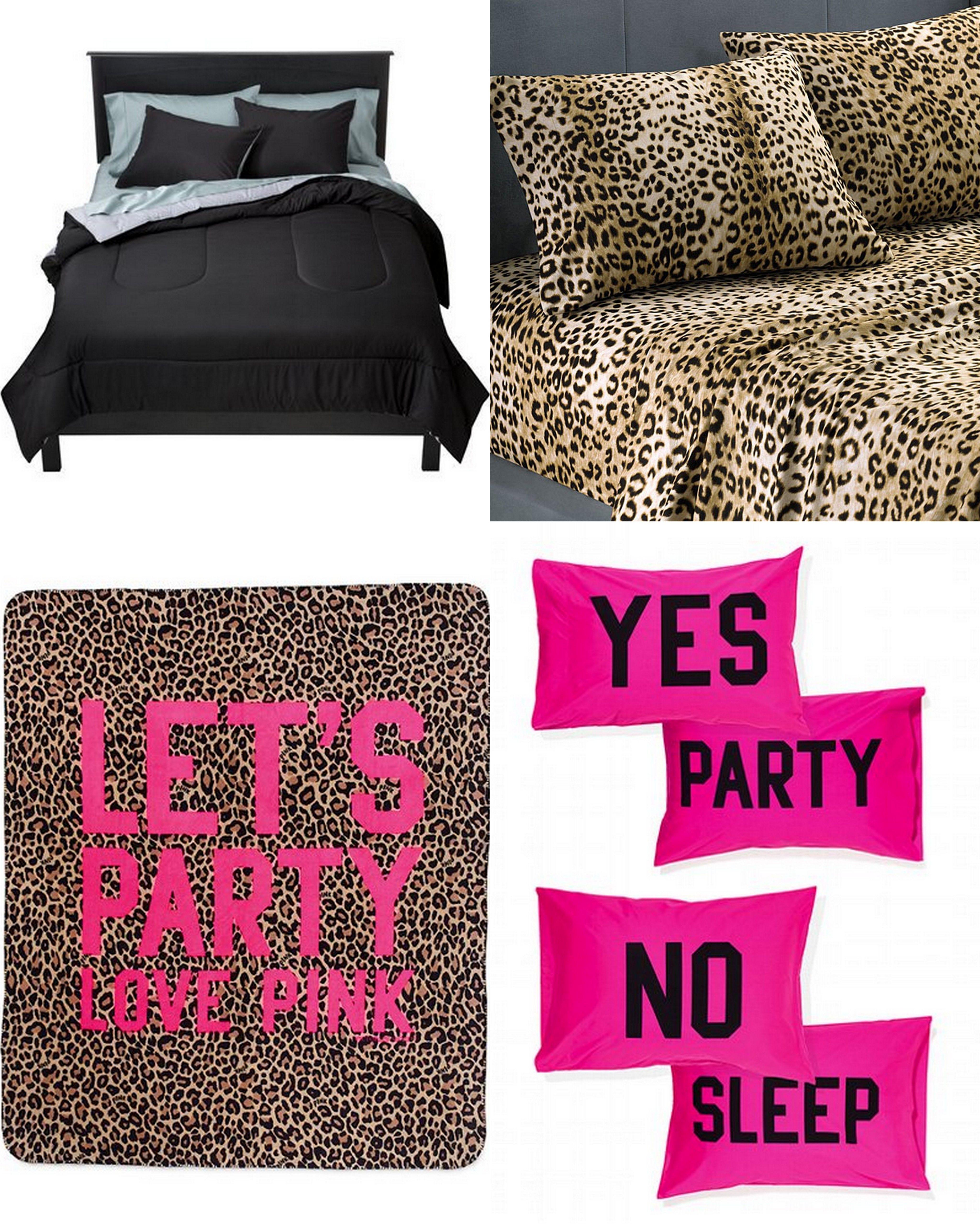 My Bed Set Target Plain Black Comforter Cheetah Sheets Pillowcases Vs Pink Stadium Blanket Pillowcase