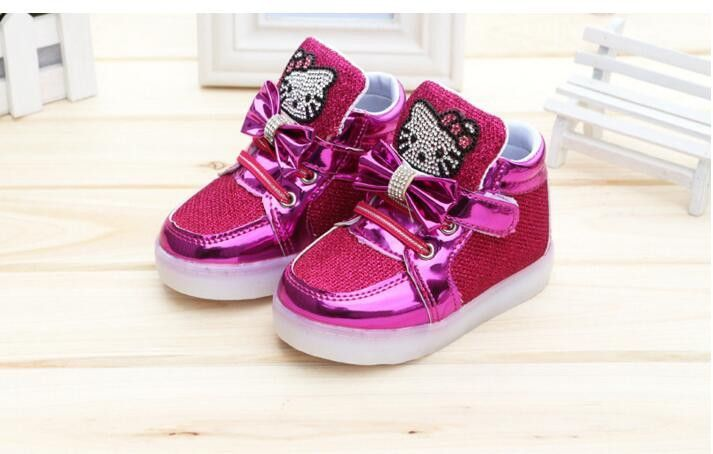Children Casual Shoes Led Lights Female Male Child Sport Shoes Rhinestone  Outsole Spring And Autumn Martin f0be4a664708