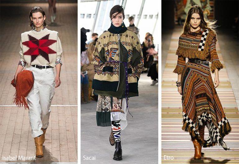 Fall Winter 2018 2019 Fashion Trends Folklore Ethnic