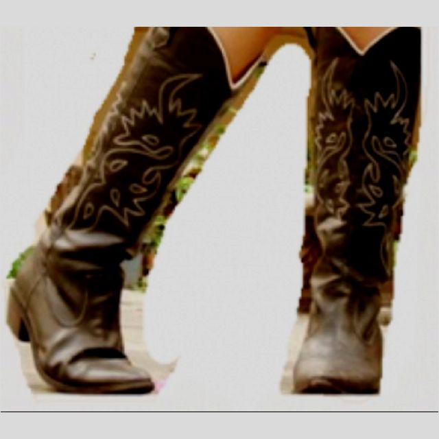 Women's cowboy boots :)  Really need some new boots