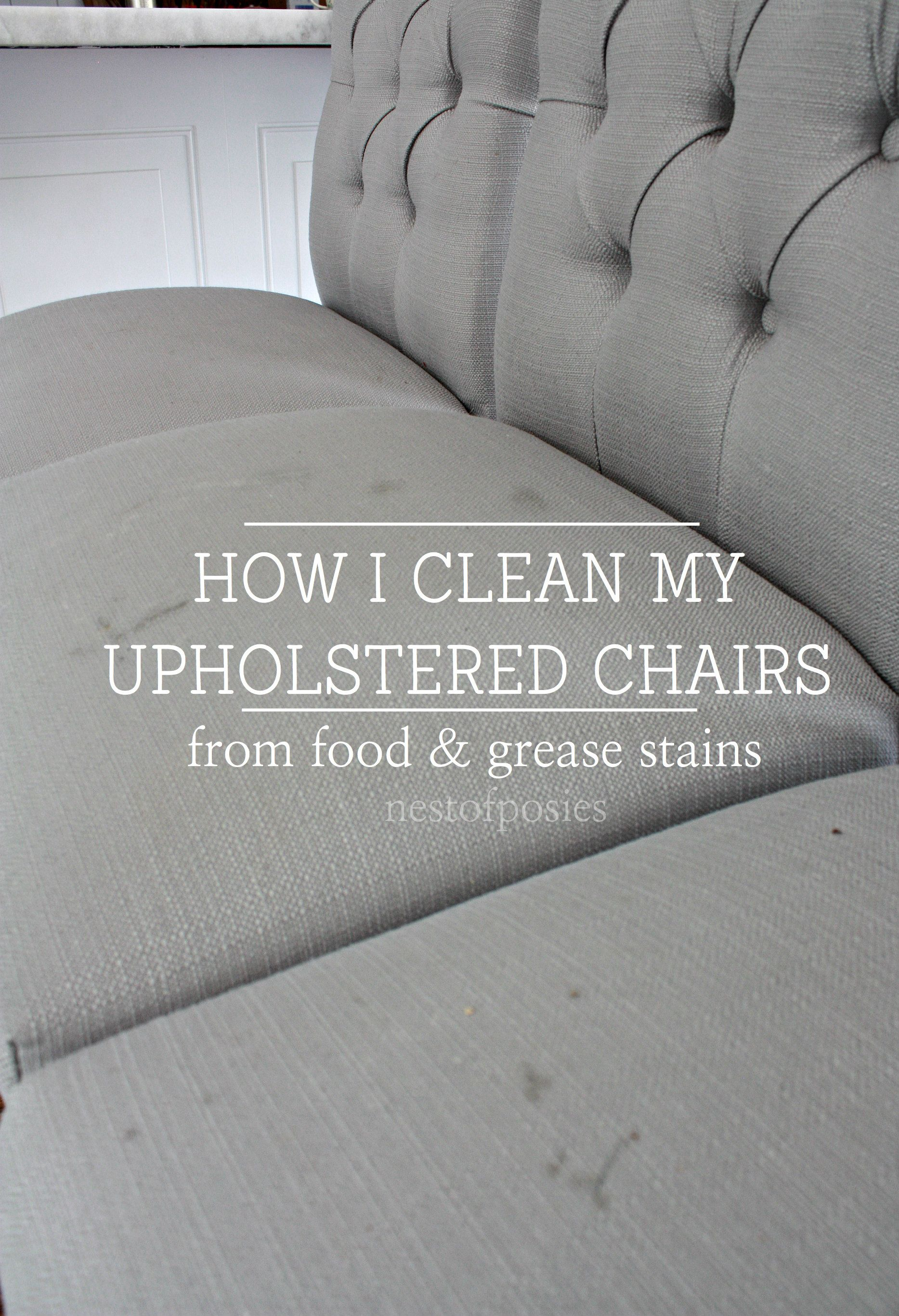 How I Clean My Upholstered Bar Stools From Food And Grease Stains
