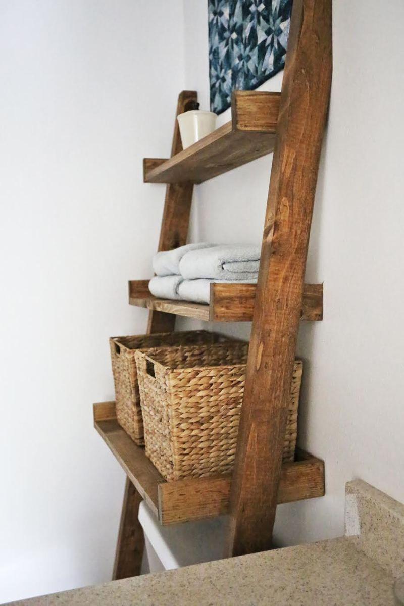 Photo of Wood Bathroom Shelf