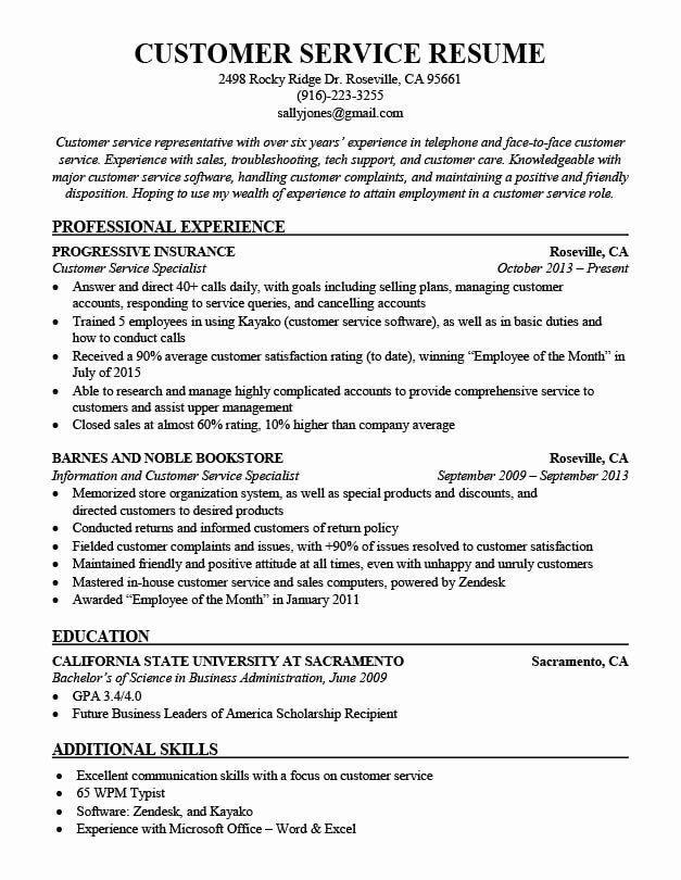 Objective Resume Bilingual Customer Service