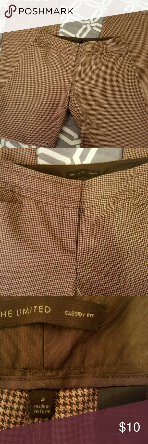 Limited Dress Pants Size 2. Cassify Fit. These are a cool salmon and brown color. Loved them during fall and winter months :) in euc. No flaws. The Limited Pants Trousers