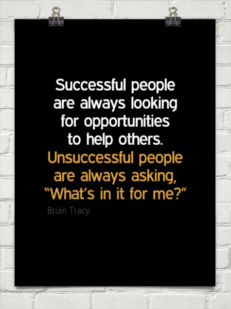 Successful people are always looking for opportunities to ...
