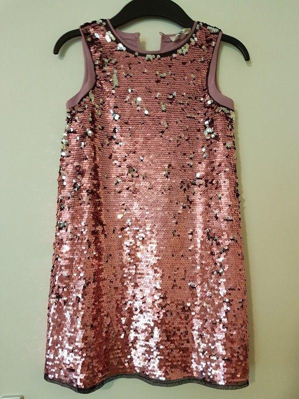 schönes Kleid von H Neu 128 amp;MWie Pailletten für Mädchen Gr Sehr VpUzGqSM