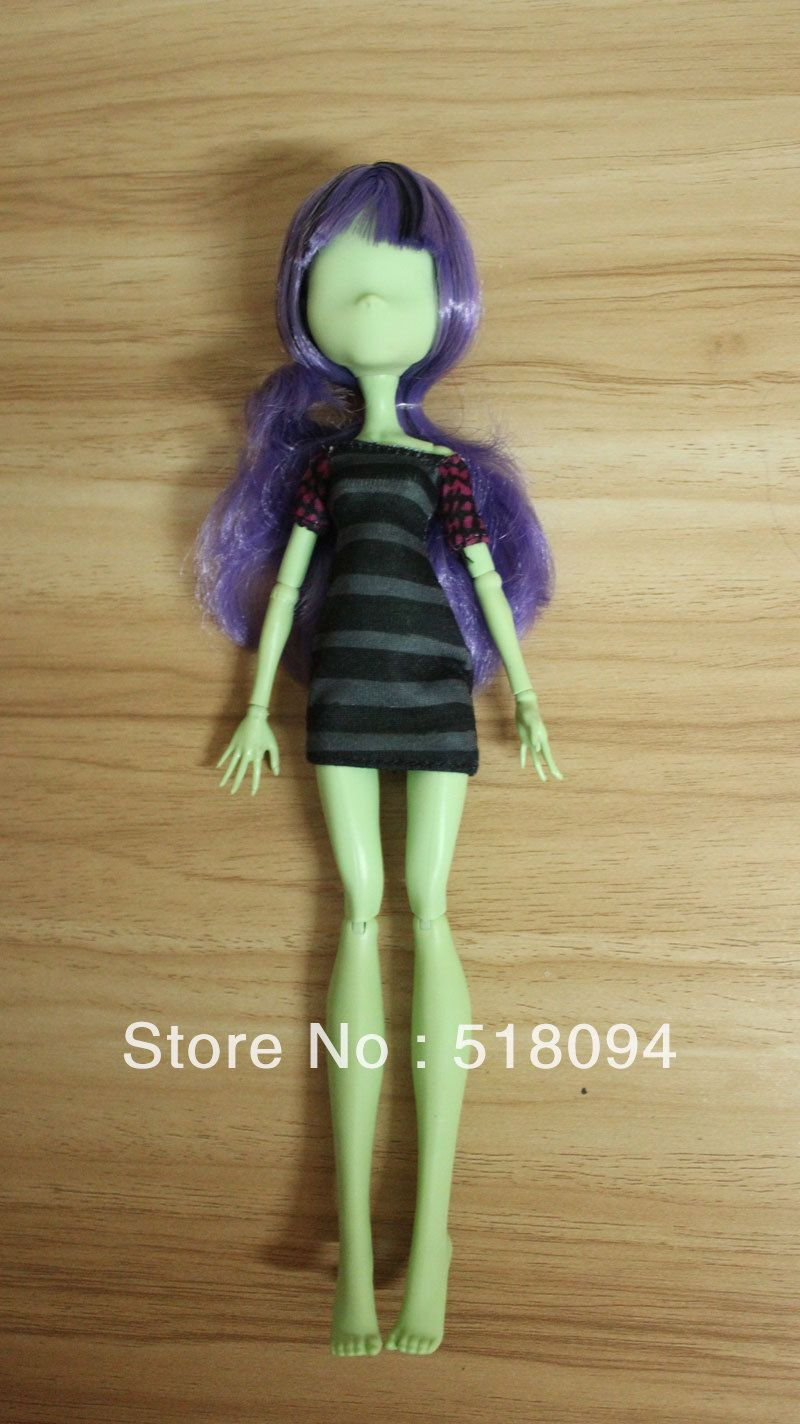 Fake But Great To Customise Free Shipping Original Monster High Dolls No Face Doll Girls Toy Gift No Retai Monster High Dolls Toys For Girls Original Monster