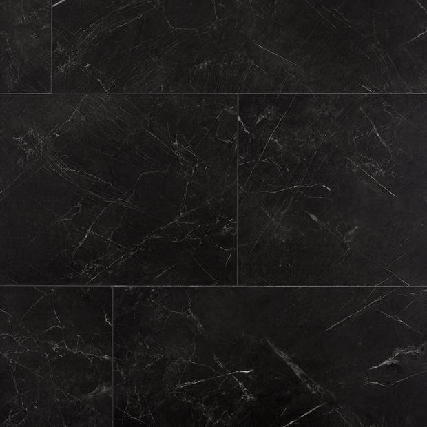 Black Marble Luxury Vinyl Tile Cork Back In 2020 Vinyl Tile Luxury Vinyl Luxury Vinyl Tile