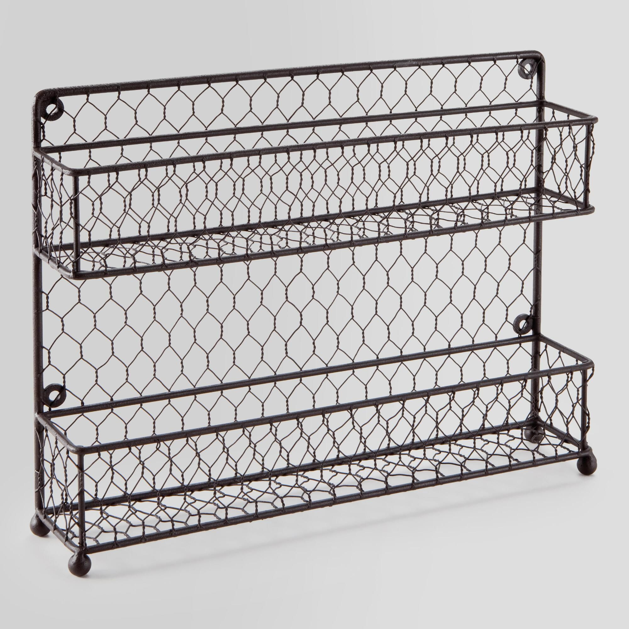 Wire Two-Tier Spice Rack | World Market | clutter control ...
