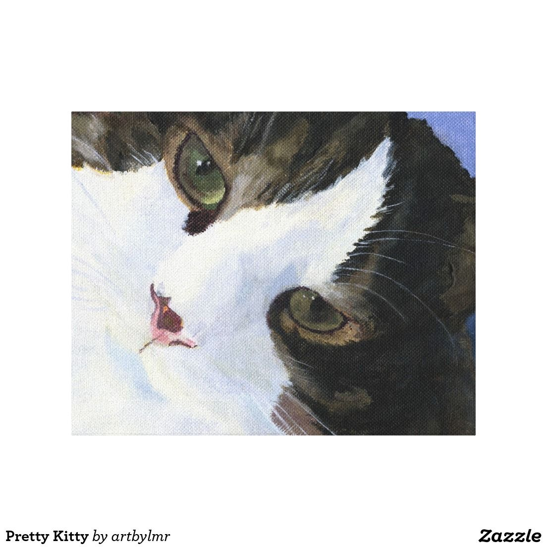 Pretty Kitty Stretched Canvas Prints