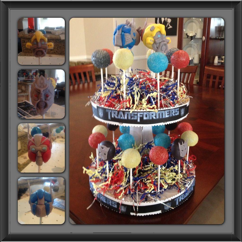Transformers Cake Pops Cake Balls And Pops Pinterest