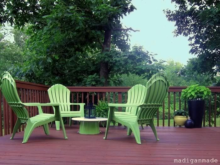 Sedie Adirondack ~ Mint green adirondack table chair set just chillin