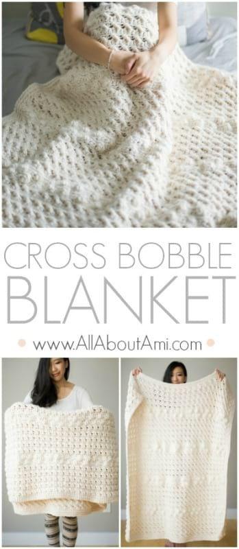 Cross Bobble Blanket | Manta, Mantas para cama y Tejido