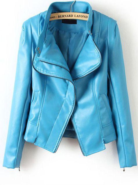 ♥ Pretty Blue Leather Jacket