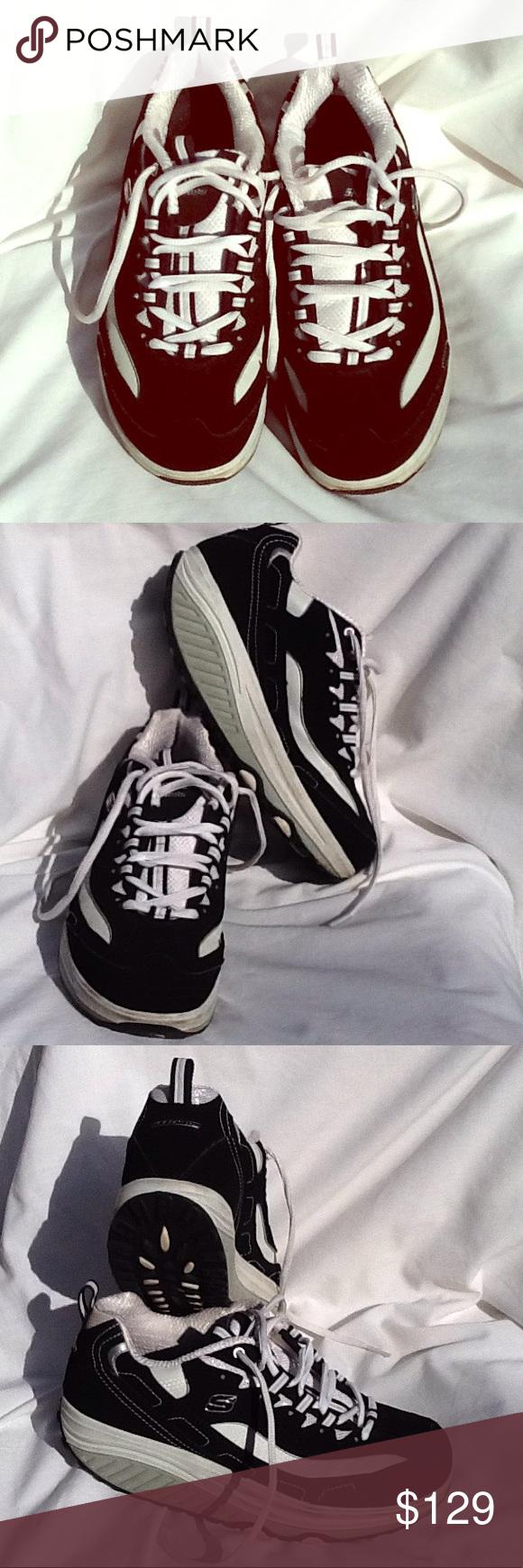 Sketchers size 8 Fitness shape up tennis shoes blk Excellent condition. Sketcher...,  #blacktennissh...