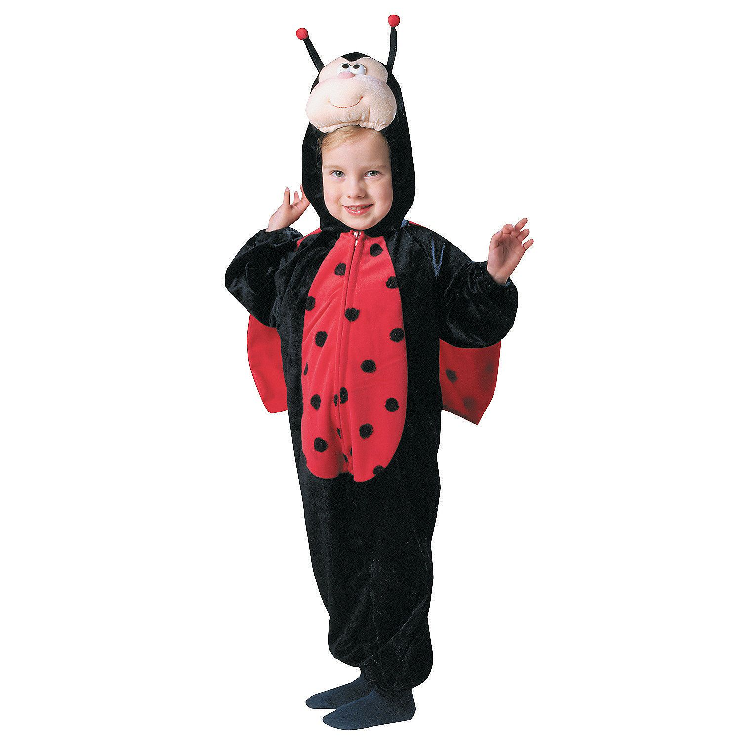 e61965785e4a Toddler+Girl's+Plush+Ladybug+with+Wings+Costume+-+OrientalTrading.com