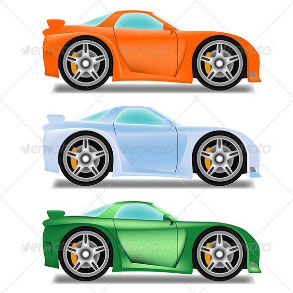 Cartoon Race Car With Big Wheels Car Cartoon Big Wheel Race Cars