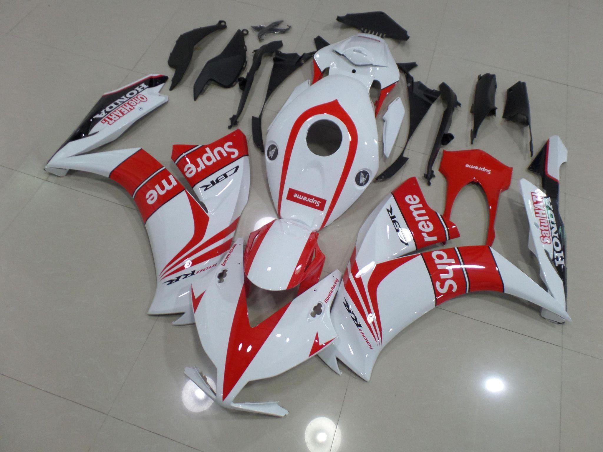 2012-2015 Honda CBR1000RR RED AND WHITE SUPREME Fairings