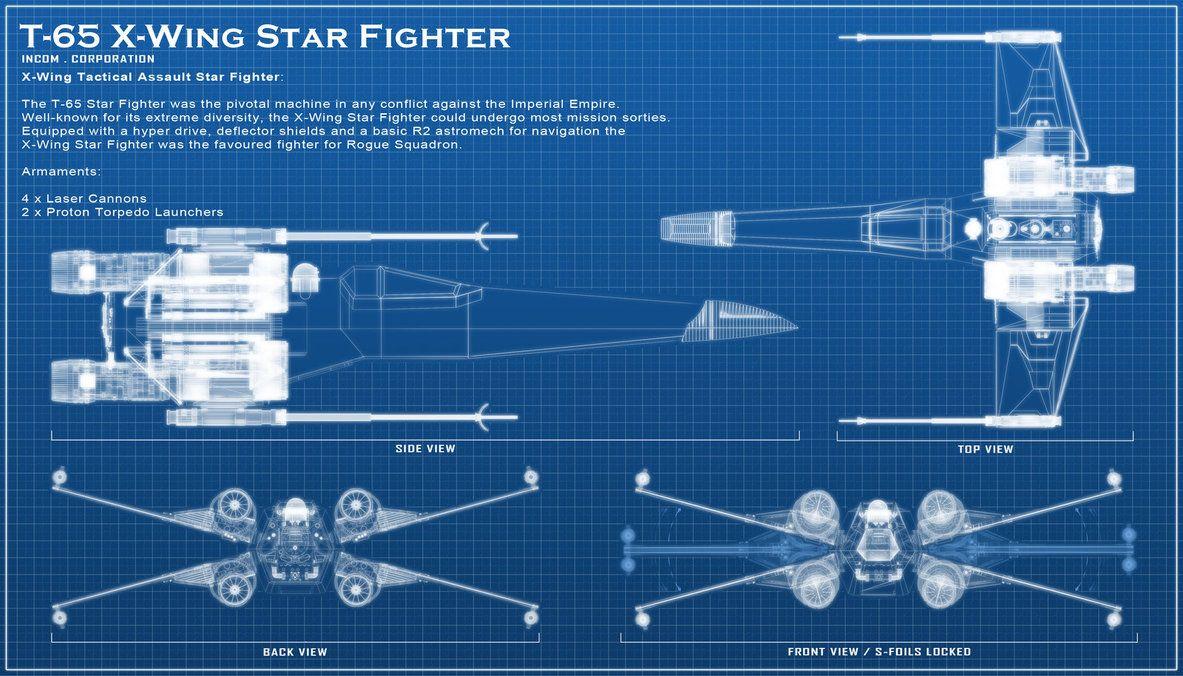 X Wing Blue Print By Chaoshour On Deviantart Star Wars Wallpaper Blue Print Star Wars Death Star