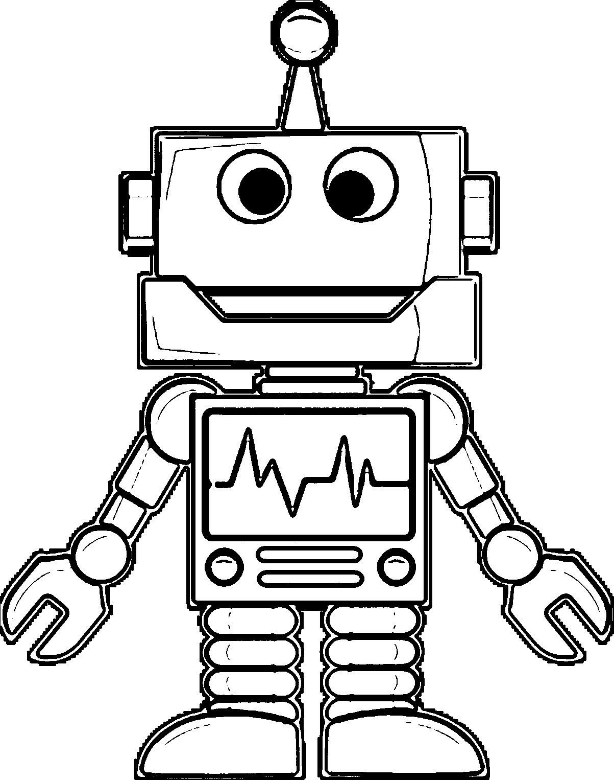 Pin By Kelsey Huber On Coloring Pages Robots Drawing Robots