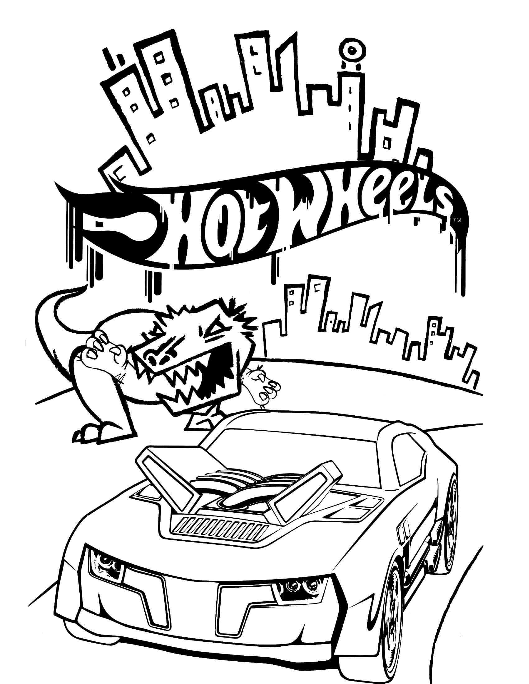 Hot wheels coloring page hot wheels pinterest wheels