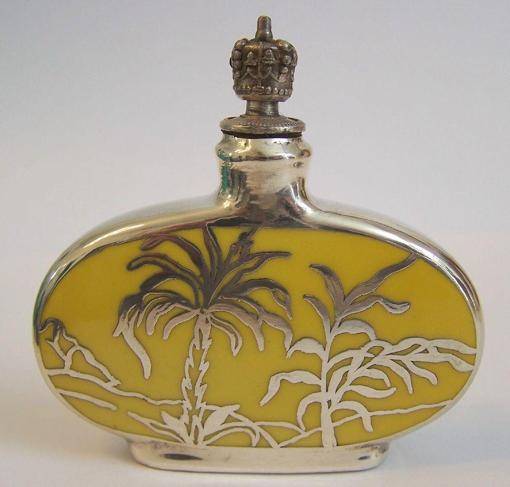 German Crown Top Mini Perfume w/Sterling Silver Overlay
