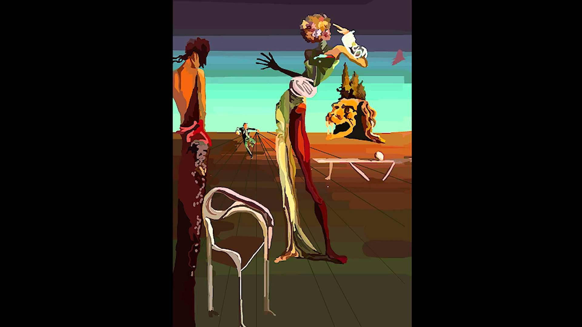 Salvador Dali Painting Comes To Life Con Imagenes