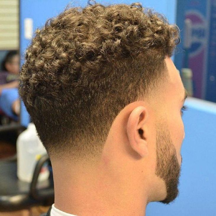 Curly Taper Fade Haircut Design Hair Pinterest Taper Fade