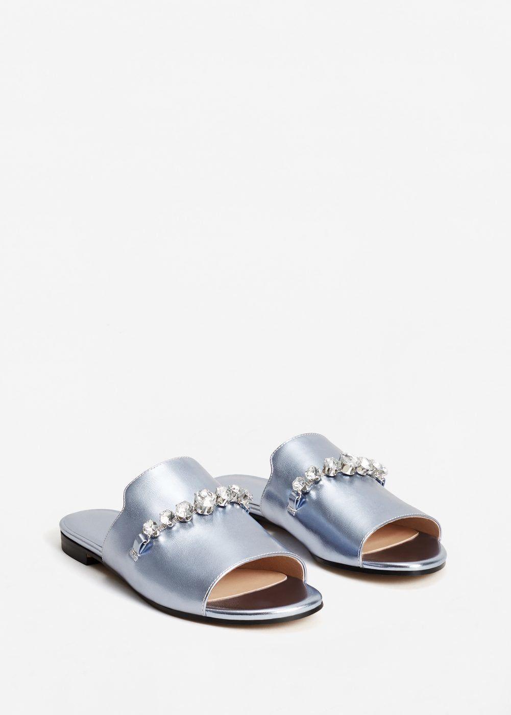 Crystal metallic sandals Women | Metallic sandals, Shoes