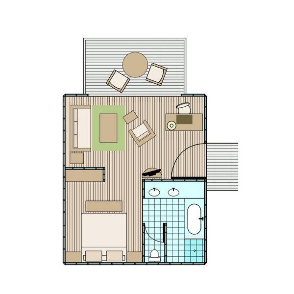 Over The Water Bungalow Floor Plan