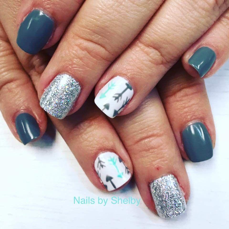 Arrows and loose glitter | Nail Art | Pinterest | Loose glitter
