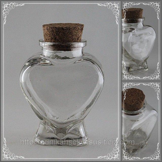 Mantar Kapaklı Kavanoz Kalp Model Nikah Şekeri Malzeme (ID#809204): satış, İstanbul'daki fiyat. Arı Nikah Şekeri Ve Süs adlı şirketin sunduğu Şişe, Kavanoz Nikah Şekeri Malzeme