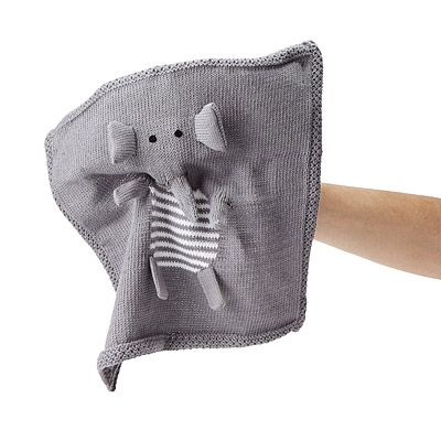 Look what I found at UncommonGoods: elephant finger puppet blankie... for $30 #uncommongoods