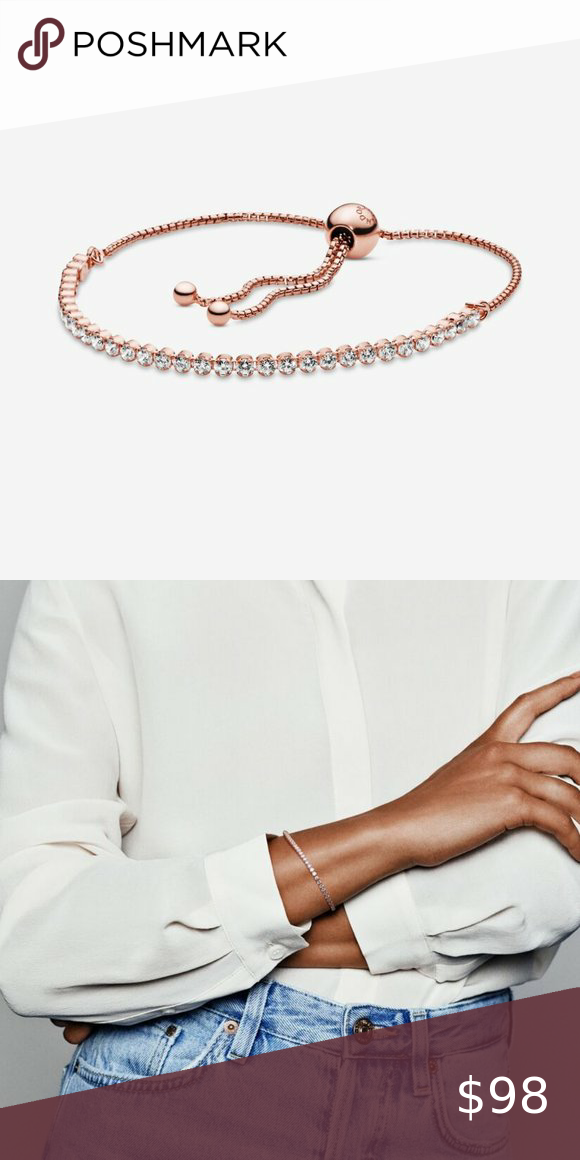 Pandora Sparkling Slider Tennis Bracelet In 2020 Tennis Bracelet Bracelets Pandora Jewelry Bracelets