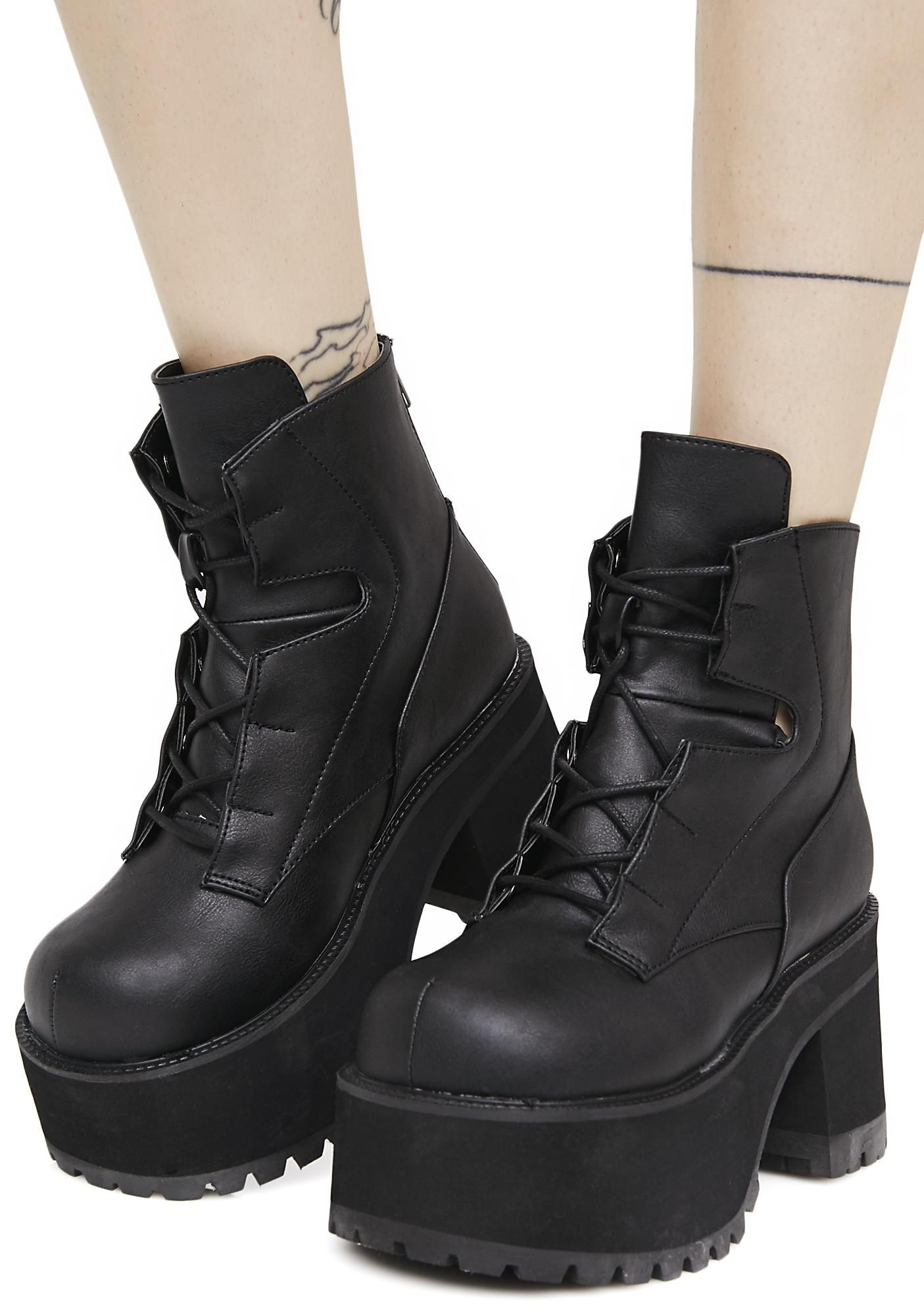 5ca45fbc3f89 Demonia Earthshatter Platform Boots are ready to break this thing wide  open