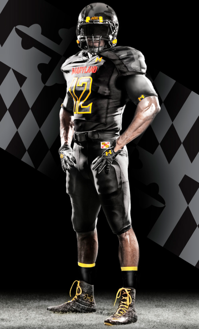 More Sweetness For Maryland Terps Football Black Ops Under Armour Uniforms For Florida State G Football Uniforms Football Outfits College Football Uniforms