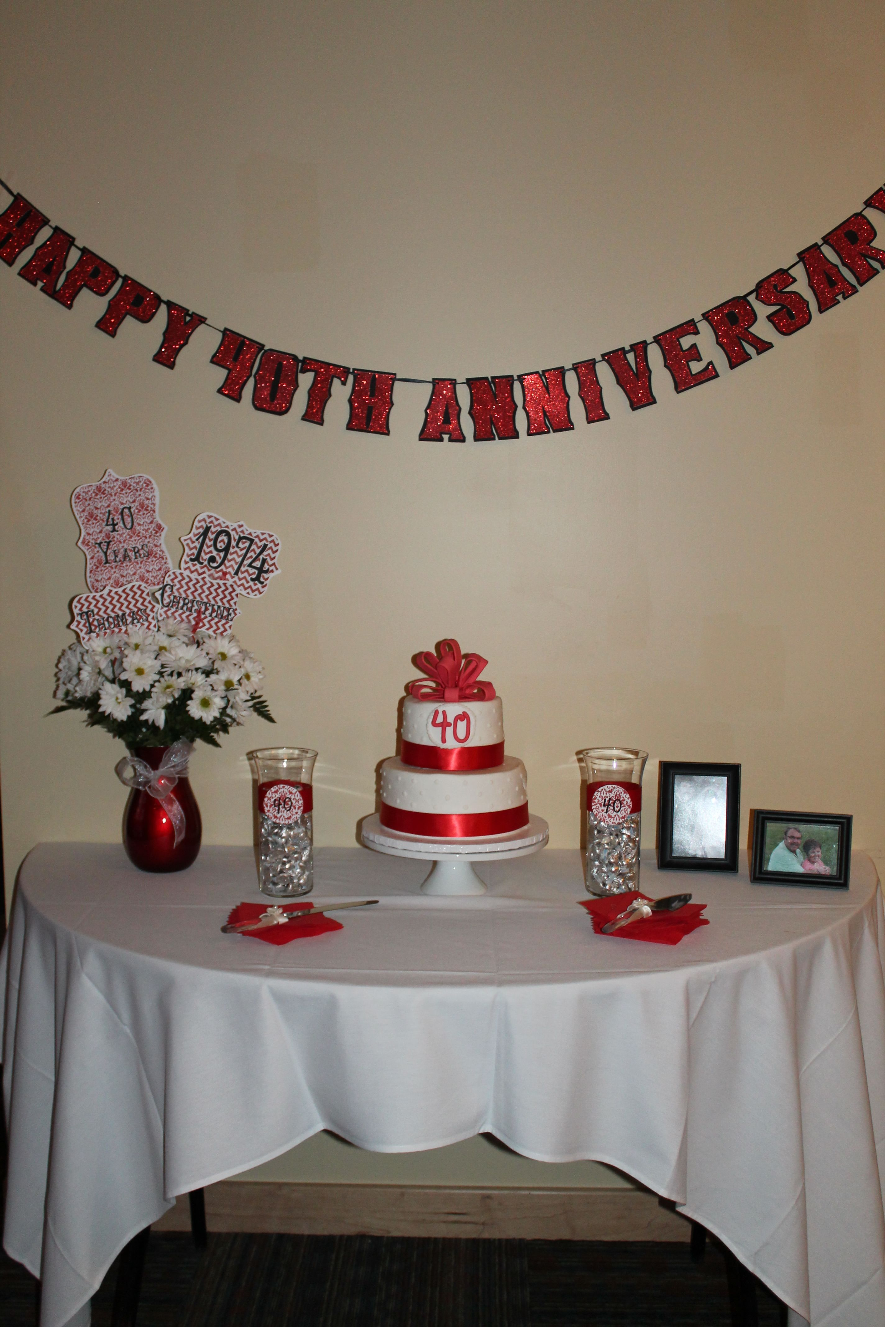 Mom & Dad's surprise 40th wedding anniversary dinner party