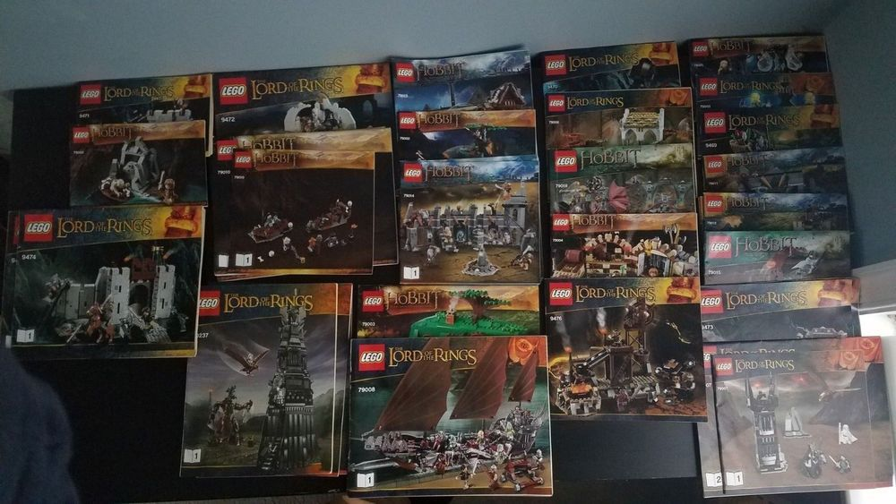 Lego Lord Of The Rings And Hobbit Lot All 27 Sets Including 100