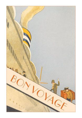 bon voyage poster would be awesome matted in that yummy yellow and