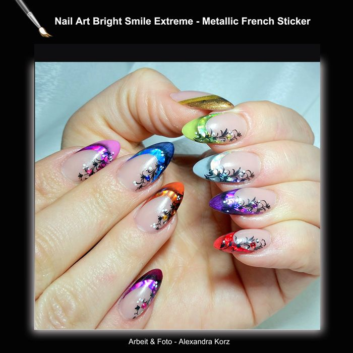 Chrome french manicure stickers for a perfect smile line and great ...