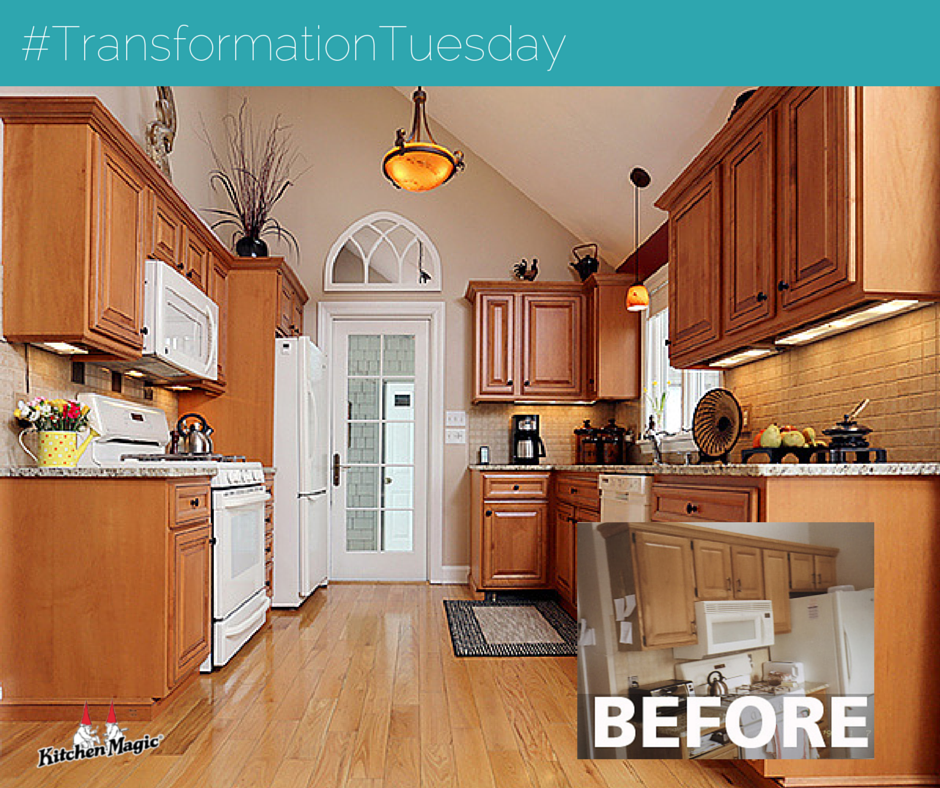 A Kitchen Magic Makeover Transformationtuesday Www Kitchenmagic Com Remodel Transformation