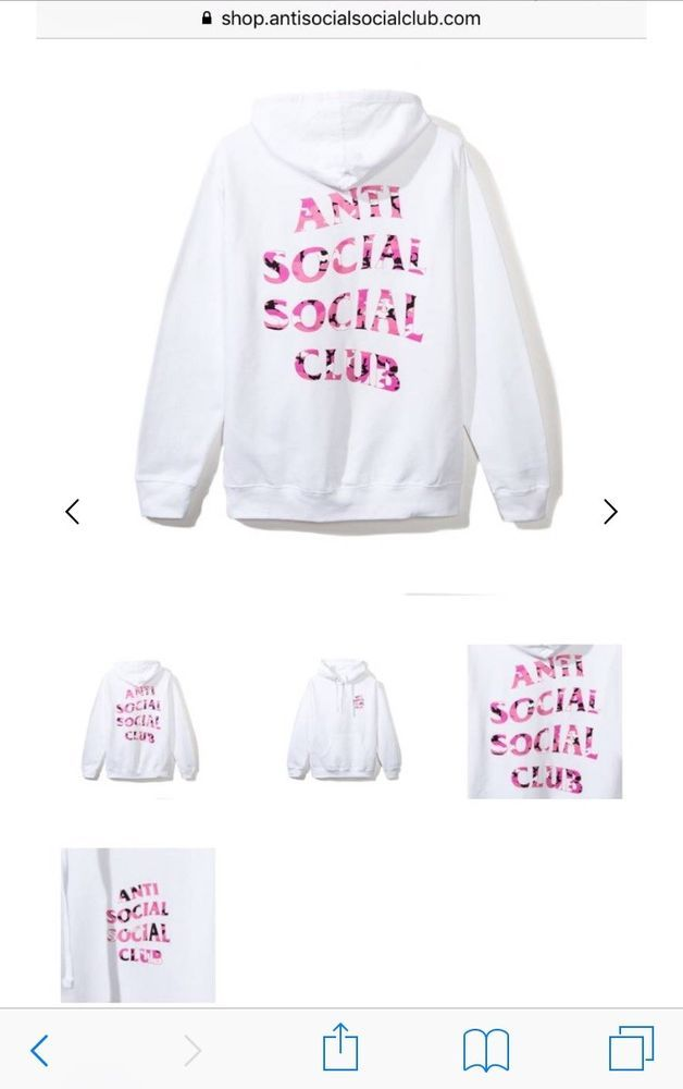 525841bdf05c ASSC Anti Social Social Club Beverly Hoodie - White w Pink Camo DS Large   fashion  clothing  shoes  accessories  mensclothing  activewear (ebay link)